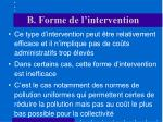 b forme de l intervention1