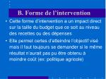 b forme de l intervention3