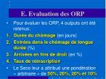 e evaluation des orp