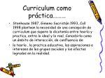 curriculum como pr ctica