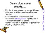 curriculum como praxis