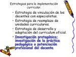 estrategias para la implementaci n curricular