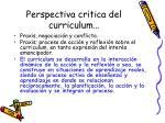 perspectiva critica del curriculum