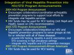 integration of viral hepatitis prevention into hiv std program announcements