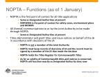 nopta functions as of 1 january