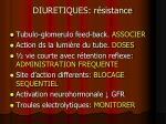 diuretiques r sistance