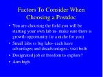factors to consider when choosing a postdoc