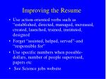 improving the resume