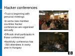 hacker conferences