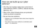 how can we build up our cyber defense