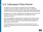 u s cyberspace policy review