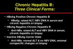 chronic hepatitis b three clinical forms