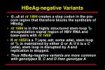 hbeag negative variants