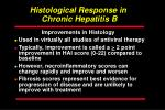 histological response in chronic hepatitis b