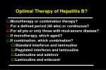 optimal therapy of hepatitis b