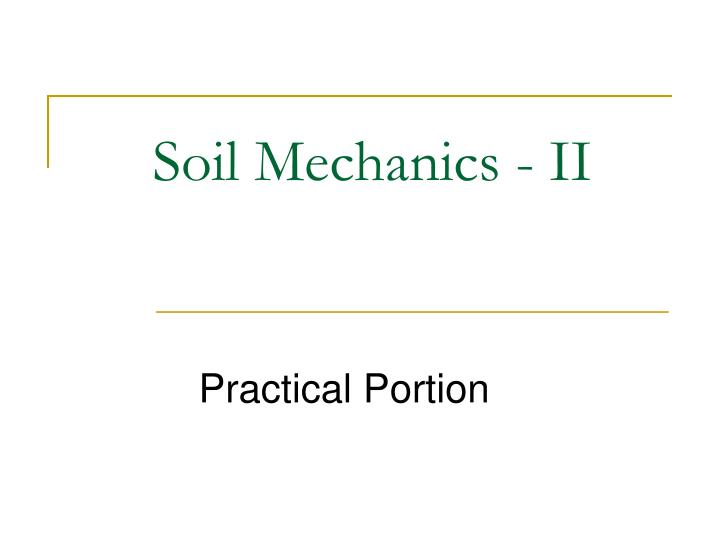 soil mechanics ii n.