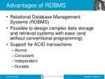 advantages of rdbms