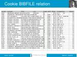 cookie bibfile relation