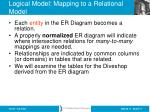 logical model mapping to a relational model