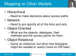 mapping to other models