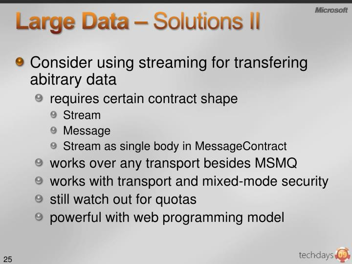 Large Data