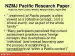 nzmj pacific research paper robinson warren samu wheeler matangi karsten agnew 2006