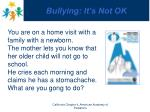bullying it s not ok