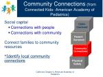 community connections from connected kids american academy of pediatrics