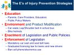 the e s of injury prevention strategies
