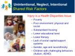 unintentional neglect intentional shared risk factors