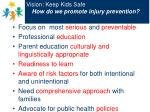 vision keep kids safe how do we promote injury prevention