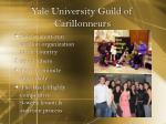 yale university guild of carillonneurs