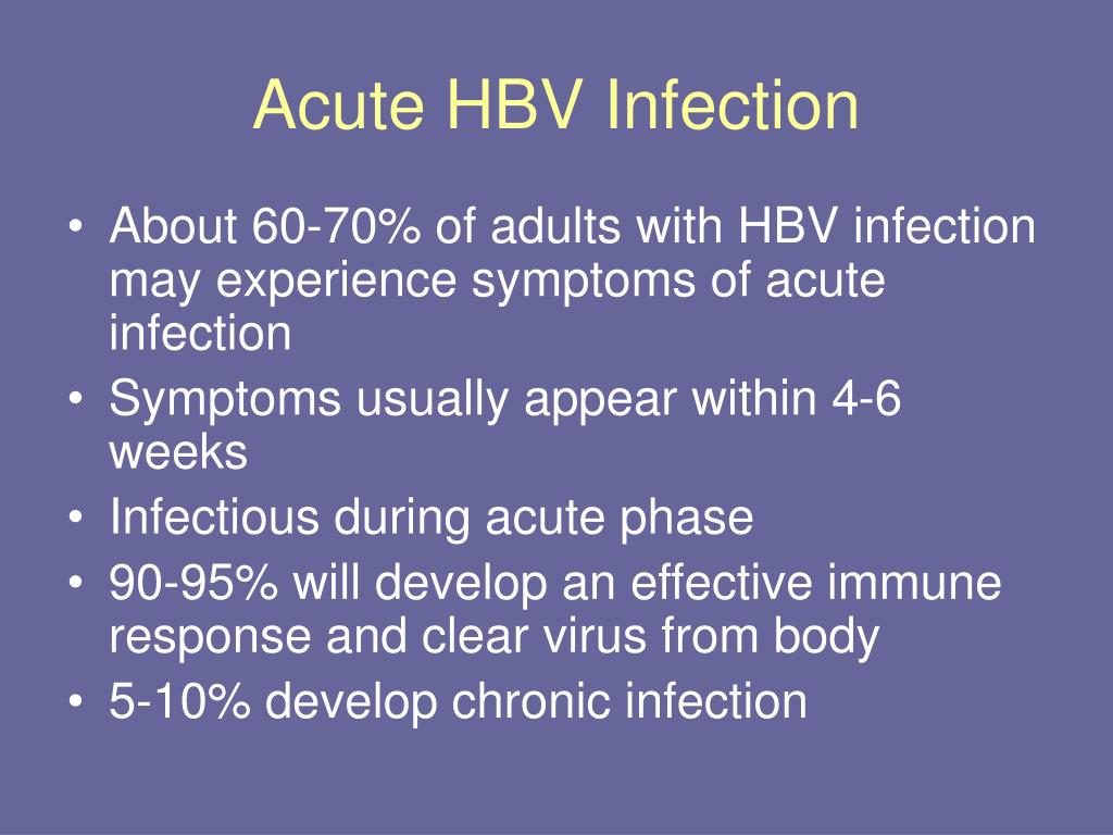 Acute HBV Infection