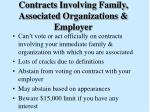contracts involving family associated organizations employer
