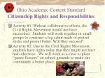 ohio academic content standard citizenship rights and responsibilities