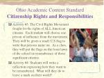 ohio academic content standard citizenship rights and responsibilities1
