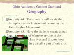 ohio academic content standard geography1