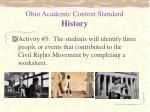 ohio academic content standard history2