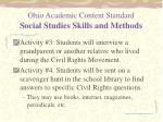 ohio academic content standard social studies skills and methods1