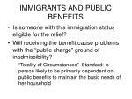immigrants and public benefits
