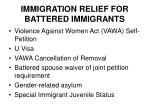 immigration relief for battered immigrants1