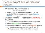 generating pdf through gaussian process