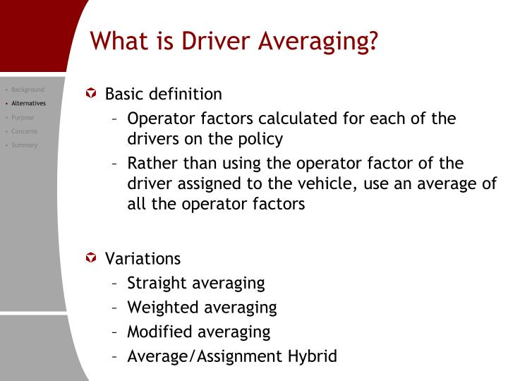 What is Driver Averaging?