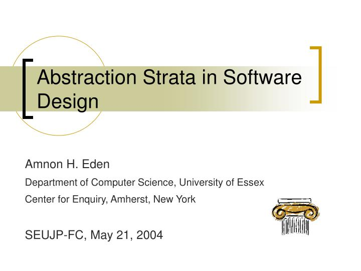 abstraction strata in software design n.