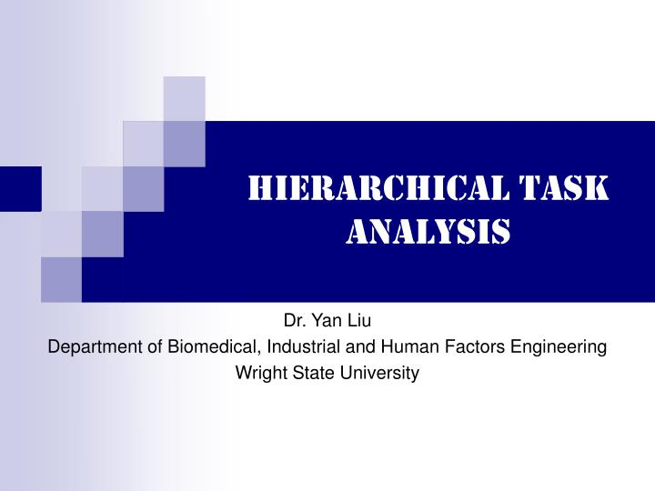 hierarchical task analysis n.