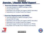 exercise disaster relief support