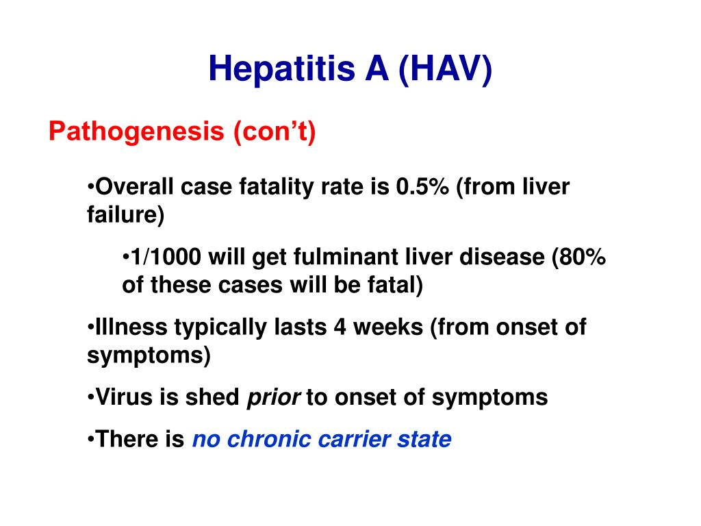 Hepatitis A (HAV)