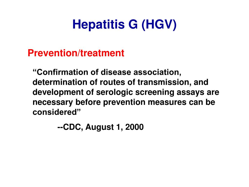 Hepatitis G (HGV)