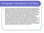 immigration how many is too many