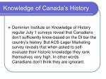 knowledge of canada s history